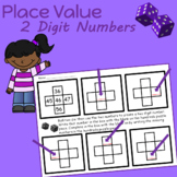 Place Value WORKSHEETS 2 and 3 Digit Numbers  (pieces of a hundreds chart)