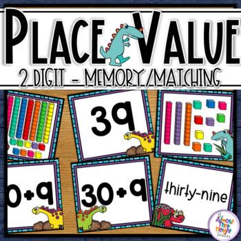 Place Value - 2 digit - Dinosaur Theme