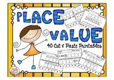 "Place Value Worksheets ""Cut N Paste"""