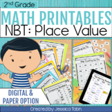 2nd Grade Math Worksheets NBT Place Value- Distance Learning Math for Google