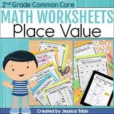 2nd Grade Math Worksheets NBT Place Value- Digital Printables With Google Slides