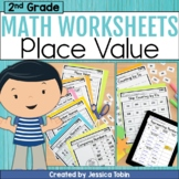 2nd Grade Math Worksheets NBT Place Value- Digital Printab