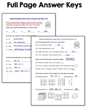 Place Value Worksheets 3rd Grade by Laura Candler | TpT