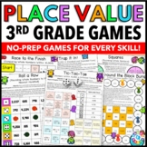 3rd Grade Place Value Games for Comparing and Rounding Numbers {3.NBT.1}