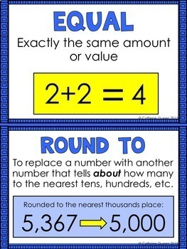 Place Value With Rounding, Posters, and Vocabulary for 4th grade