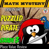 3rd Grade Place Value Review Math Mystery: Convert, Compar