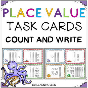 Place Value Tens and Ones Activity - (Task Cards)