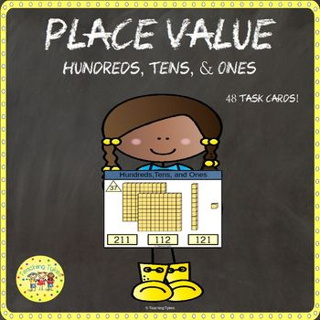 Place Value Clip Cards Hundreds Tens and Ones