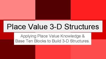 Place Value 3-D Structures