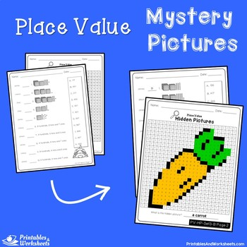 Place Value 3 Digit Numbers Mystery Pictures Place Value Hundreds, Tens and Ones