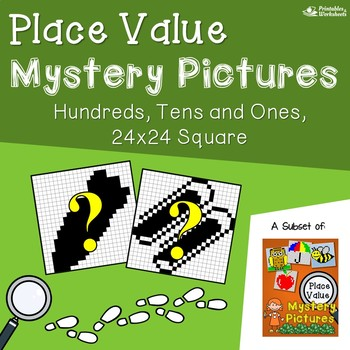 Place Value Coloring Worksheets, 3 Digit Place Value Puzzle Worksheets