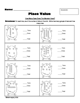 Place Value 3-Page Packet