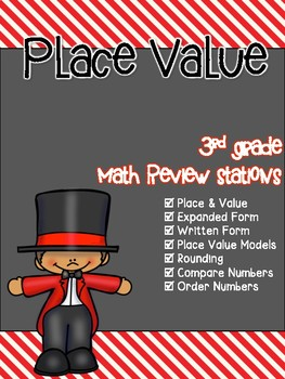Place Value 3rd Grade Math Review Stations