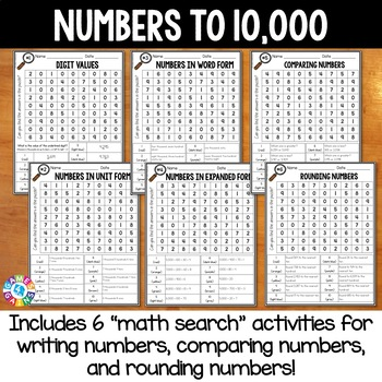Place Value 3rd Grade Math Search {Writing, Comparing, & Rounding Numbers}