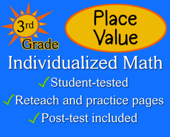 Place Value, 3rd grade - Individualized Math - worksheets