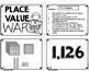 Place Value 4 Digit War Math Game