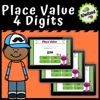 Place Value 4 Digits - Boom Cards