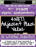Place Value - 4.NBT.1 Self Grading Assessment Google Forms