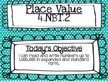 Place Value: 4.NBT.2 4th Grade Expanded Form Powerpoint Lesson *EDITABLE*