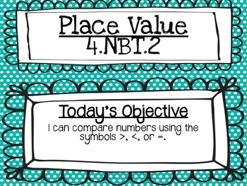Place Value: 4.NBT.2 Comparing Numbers PowerPoint Lesson *EDITABLE*