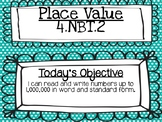 Place Value: 4.NBT.2 Word Form PowerPoint Lesson *EDITABLE*