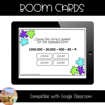 Place Value - 4th Grade - Boom Cards