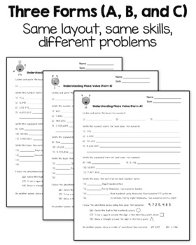 Place Value Worksheets 4th Grade CCSS Printable & Digital for Google Classroom