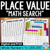 4th Grade Place Value Worksheets: Comparing Numbers, Rounding Numbers 4.NBT.1-3
