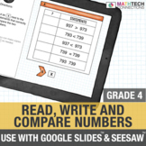 Read, Write, & Compare Numbers - 4th Grade for use with Google Drive™