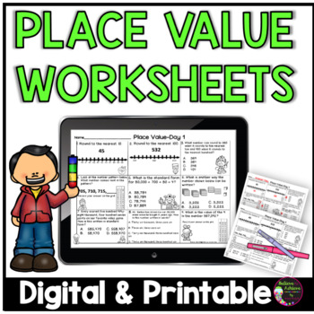 Place Value- 5 Days of Practice (45 problems!)