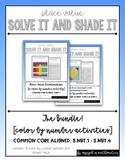 Place Value (5.NBT.1-5.NBT.4) Solve It and Shade It Bundle