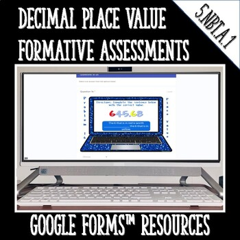 Place Value 5.NBT.A.1 DIGITAL TASK CARDS for Google Classroom