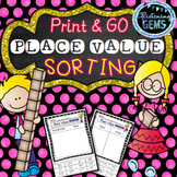 Second Grade Place Value Sorting