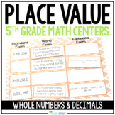 5th Grade Place Value Math Centers