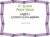 Place Value Task Cards 5th Grade Math Common Core 5.NBT.1 {QR Codes & Key}