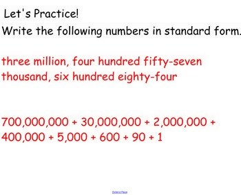 Place Value 5th Grade SMARTboard Openings