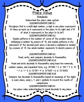 Place Value:  5th grade Google Drive actvity