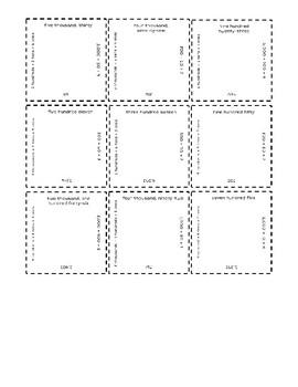Place Value 9-Square Puzzle