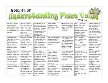 Place Value -- A Month of Games & Activities for 3rd Grade -- CCSS