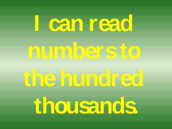Place Value- A powerpoint for reading numbers to the hundred thousands place
