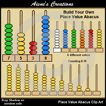 place value abacus byo by aisne 39 s creations teachers pay teachers. Black Bedroom Furniture Sets. Home Design Ideas