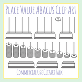 Place Value Abacus / Placevalue Manipulatives Clip Art Set for Commercial Use