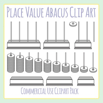 Place Value Abacus Placevalue Manipulatives Clip Art Set For