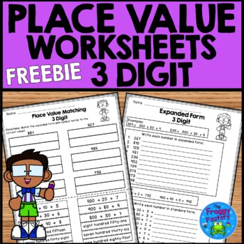 Place Value Worksheets FREEBIE - 3 Digit Place Value | Distance Learning