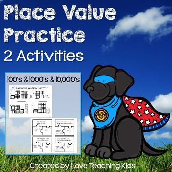 Place Value Activities- Using Blocks, Numeral & Expanded Form, and Written Word