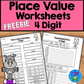 Place Value Worksheet FREEBIE - 4 Digit Place Value | Distance Learning