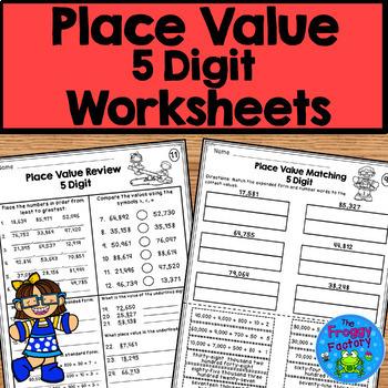 Place Value Activities - 5 Digit