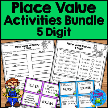 Place Value Activities Bundle - 5 Digit Place Value | Distance Learning