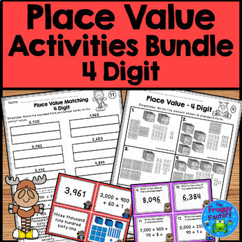 Place Value Worksheets and Activities Bundle - 3, 4, and 5 Digit