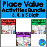Place Value Worksheets and Activities Bundle - 3, 4, & 5 Digit